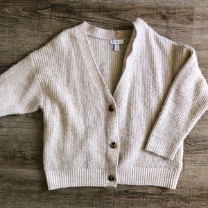Topshop | Chunky Beige Cardigan Button Sweater